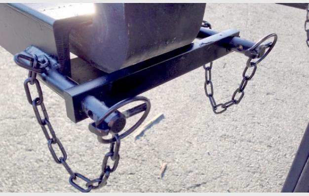 Crochet pour charges élinguées sur fourches RIMAN