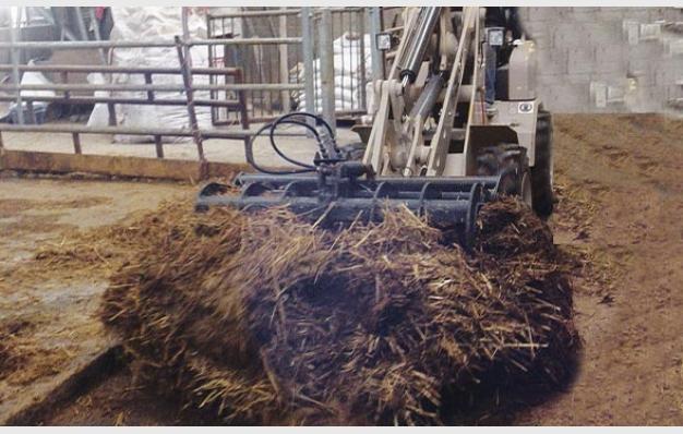 Fourche crocodile agricole petit tracteur Riman