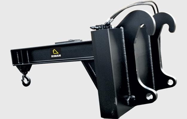 Potence hydraulique horizontale orientable