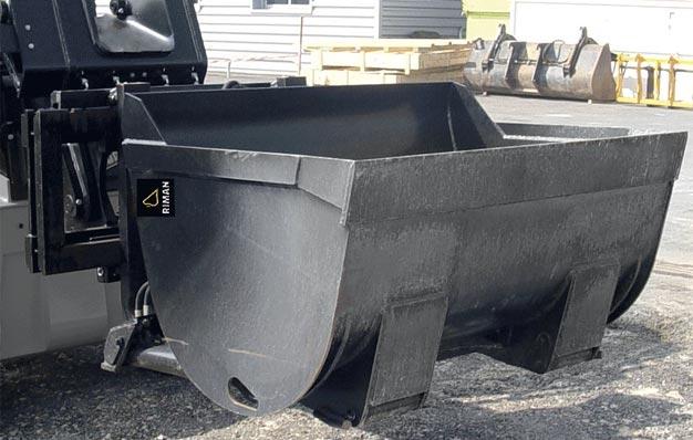 Godet hydraulique vrac pour chariot à mat et graviers - Riman