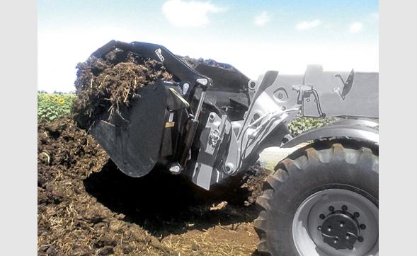 Godet grappin multiservice agricole sur télescopique Riman